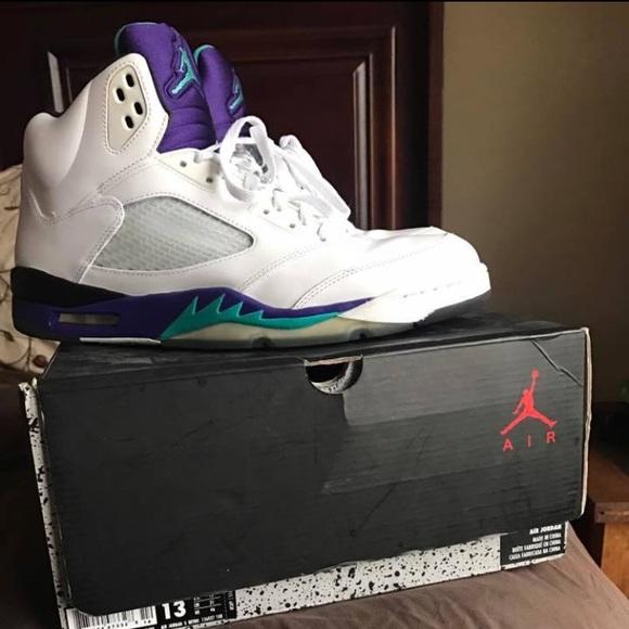 Jordan Retro 5 Grape | Poshmark